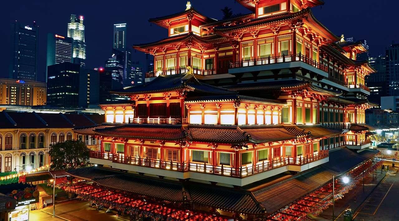 singapore tempio del buddha reliquia
