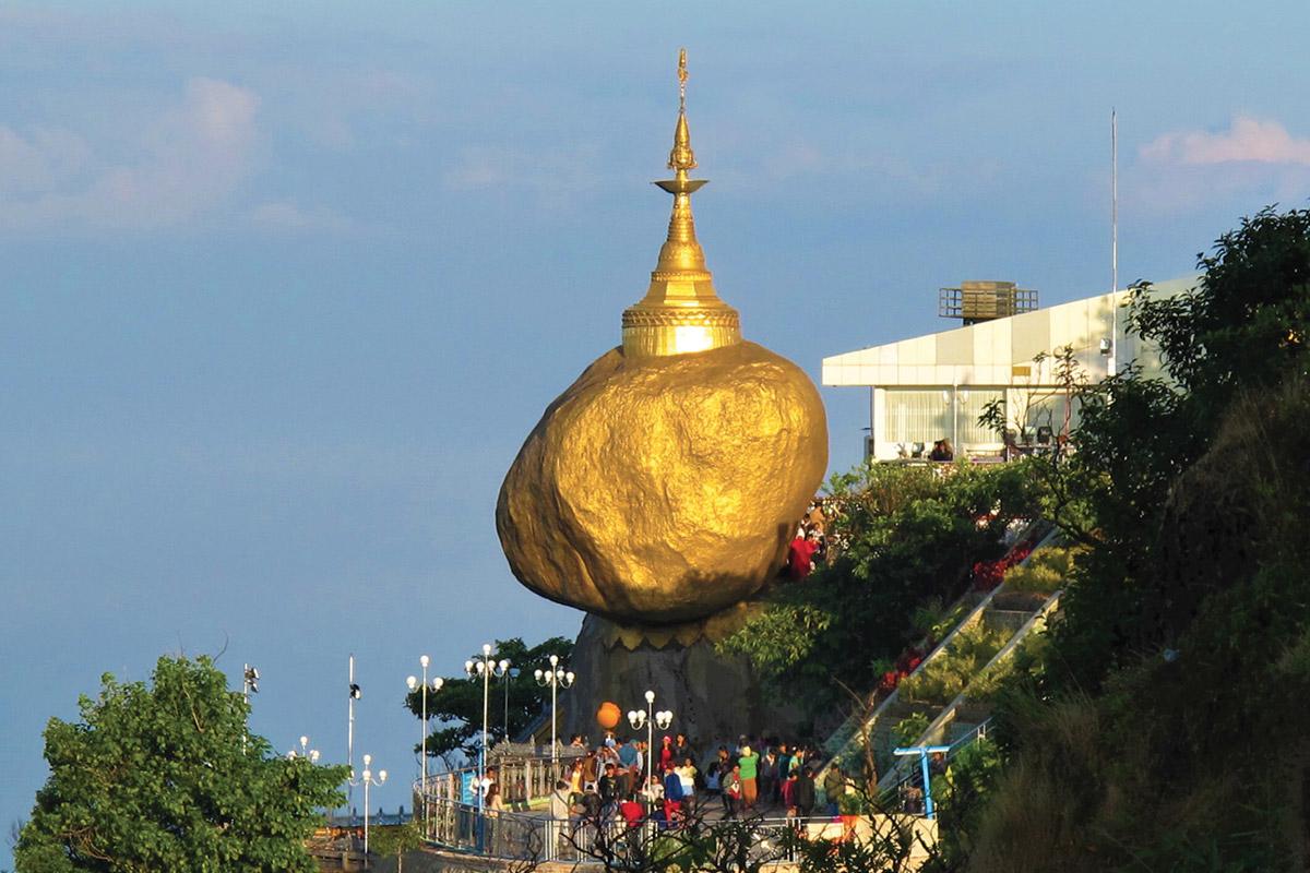 roccia d'oro Myanmar